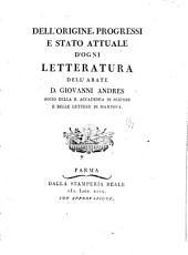 Dell'origine, progressi e stato attuale d'ogni letteratura: Della #. Della scienza biblica