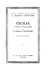 Cecilia: A Story of Modern Rome