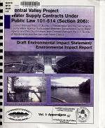Central Valley Project Water Supply Contracts Under Public Law 101-514 (Section 206): vol. I: Appendices