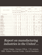Report on Manufacturing Industries in the United States at the Eleventh Census, 1890: Textiles