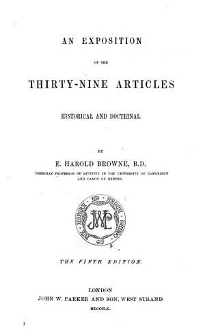 An Exposition of the Thirty nine Articles