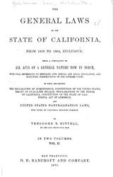 The General Laws Of The State Of California From 1850 To 1864 Inclusive Book PDF