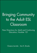 Bringing Community to the Adult ESL Classroom