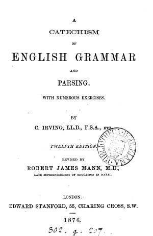 A catechism of English grammar
