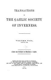 Transactions of the Gaelic Society of Inverness: Volume 8