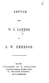 Letter from W. S. Landor to R. W. Emerson
