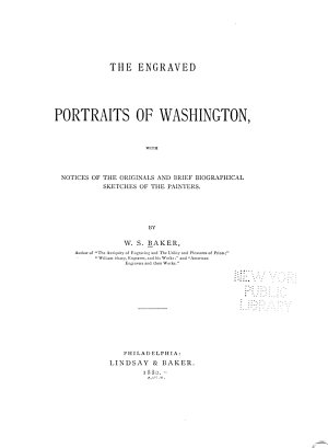 The Engraved Portraits of Washington