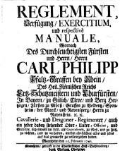 Reglement Exercitium, und resp. Manuale ... Churf. Pfälzisches Carl Philipp 1740