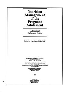 Nutrition Management of the Pregnant Adolescent PDF