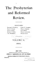 The Presbyterian and Reformed Review PDF