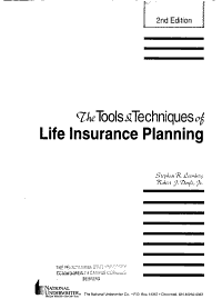 The Tools   Techniques of Life Insurance Planning PDF