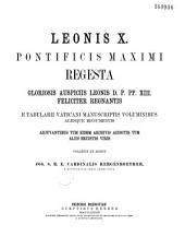 Léonis X Regesta: actes 1513-1514
