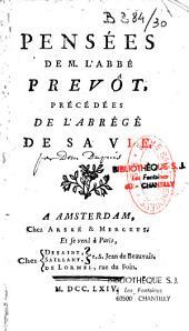 Pensées de M. l'abbé Prévôt, précédées de l'Abrégé de sa vie