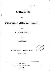 Zeitschrift Für Wissenschaftliche Botanik: Volume 1