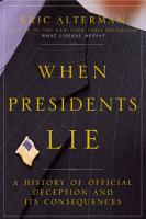 When Presidents Lie PDF