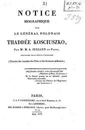 Notice biographique sur le général polonais, Thaddée Kosciuszko