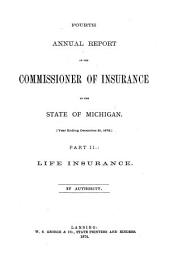 Report of the Commissioner of Insurance: Part 2
