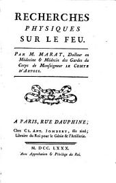 Recherches Physiques Sur Le Feu