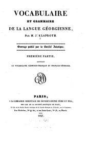 Vocabulaire et grammaire de la langue géorgienne