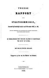 Rapport 1-2 der staatscommissie: benoemd bij koninklijk besluit van 29. November 1853 ...