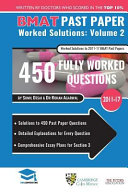 Bmat Past Paper Worked Solutions Volume 2
