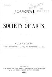 Journal of the Royal Society of Arts ...: Volume 35