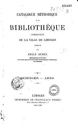 Catalogue m  thodique de la biblioth  que communale de la ville de Limoges PDF