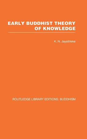 Early Buddhist Theory of Knowledge PDF
