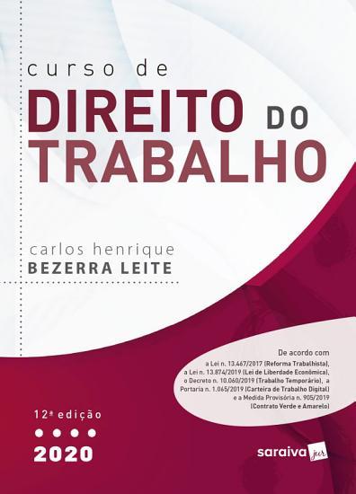 Curso de Direito do Trabalho   12   Ed  2020 PDF