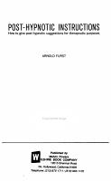 Post hypnotic Instructions PDF