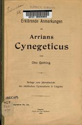 Erklärende anmerkungen zu Arrians Cynegeticus ...