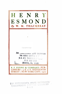 Henry Esmond PDF