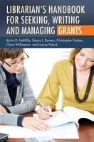 Librarian s Handbook for Seeking  Writing  and Managing Grants PDF
