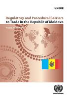 Regulatory and Procedural Barriers to Trade in the Republic of Moldova PDF