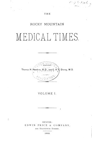 The Rocky Mountain Medical Times