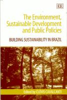 The Environment  Sustainable Development  and Public Policies PDF
