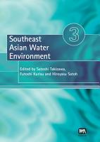 Southeast Asian Water Environment 3 PDF