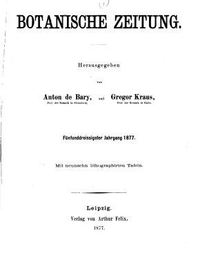 Botanische Zeitung PDF