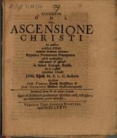 De ascensione Christi in coelos