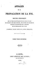 Annales de la propagation de la foi: recueil périodique de l'Association de la Propagation de la Foi, Volume28
