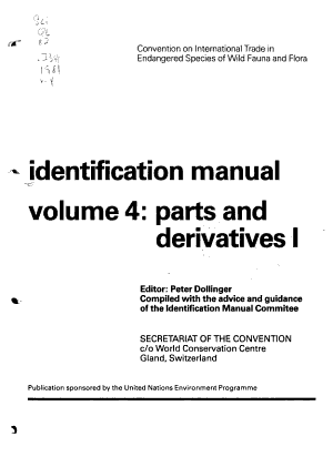 Identification Manual  Parts and derivatives I