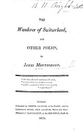 The Wanderer of Switzerland  and Other Poems PDF