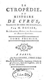 Cyropédie: Volume1