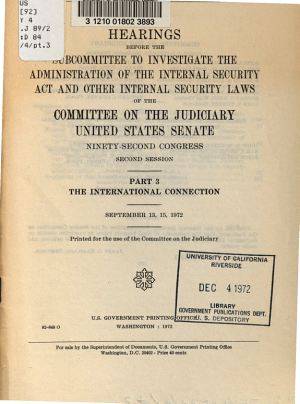 World Drug Traffic and Its Impact on U S  Security  The international connection PDF