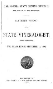 Report of the State Mineralogist: Issue 11