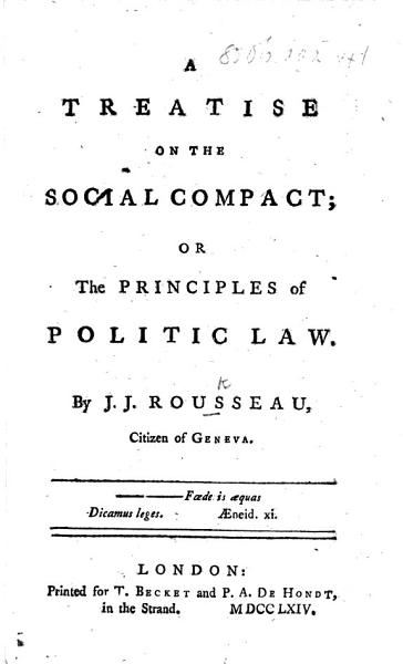 Download A Treatise on the Social Compact Book