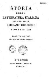 Storia della letteratura italiana: Volume 8,Parte 2