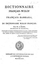 Dictionnaire français-wolof et français-bambara, suivi du dictionnaire wolof-français