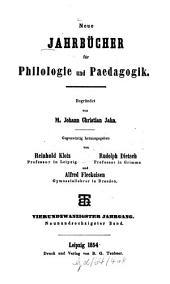 Neue Jahrbücher für Philologie und Pädagogik: Band 69