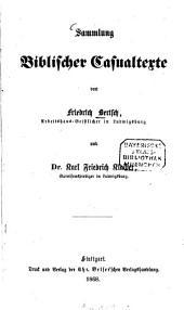 Sammlung Biblischer Casualtexte